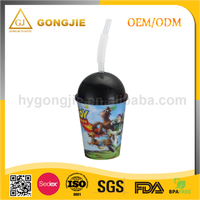 GJ-118, Taizhou,Gongjie, 2017 hot selling products, 400ml Plastic 3D lenticular cup