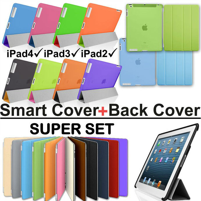 Magnetic Smart cover for ipad2 ipad3 ipad4 include back cover