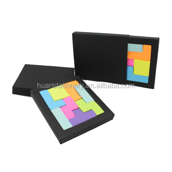 2014 colorful tetris puzzle sticky note for kids