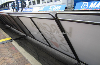 1.1X2.0M Steel Media Barricade Portable Steel Media Barrier
