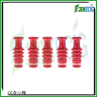 Fashion Alibaba Helix style red ceramic drip tip for wax pen vaporizer