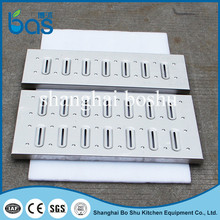 A350 trench cover/stairs/fences/bar grating mill metal serrated drainage pavement grating Floor drain cover
