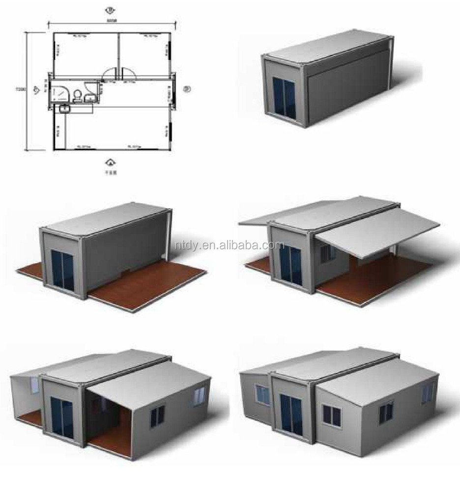 2016 New type of prefabricated houses and extensible container houses