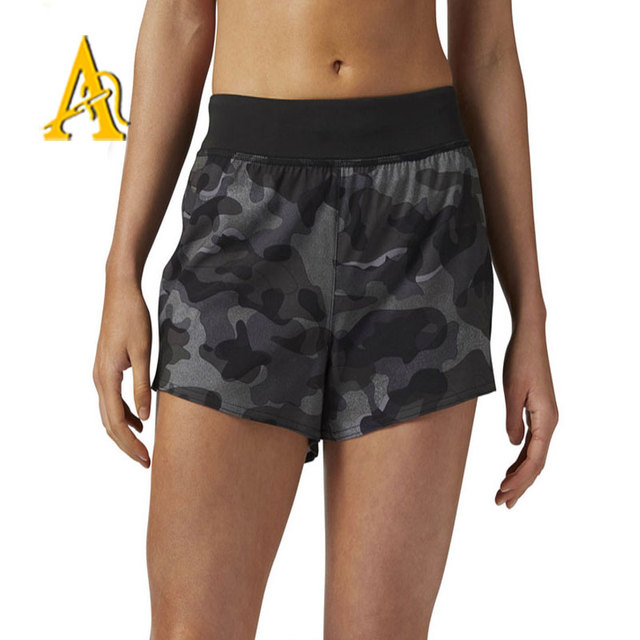 Wholesale Camouflage Womens Sport Shorts Running Shorts