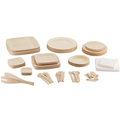 Bamboo  Plates Disposable cutlery