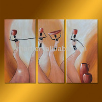 100% Handmade abstract naked woman painting