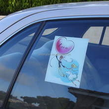 Removable non-adhesive vinyl static window cling sticker decals