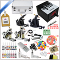 Hot sale top quality tattoo equipment 4 Tattoo Machine/tattoo Guns/Tattoo Kit with14 colors tattoo Ink