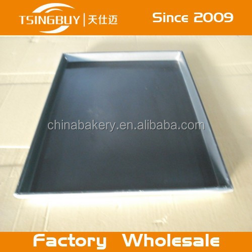 0.8/1.0/1.2/1.5/2.0mm thickness flat Perforated baking cake aluminum tray/serving tray