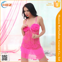 HSZ-8016# Wholesale sexy lingerie big woman high quality sexy night dress mature lingerie lingerie sexy sex kiss