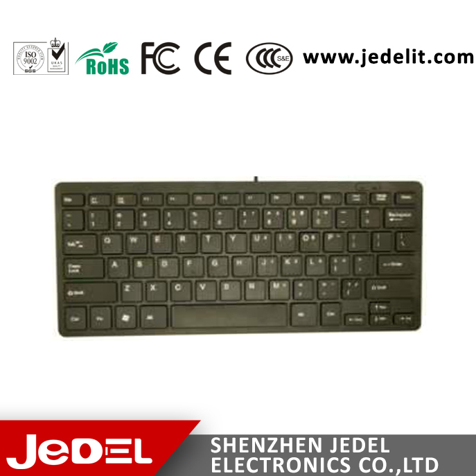 Ultra Slim Mini wired chocolate keyboard for notebook and desktop