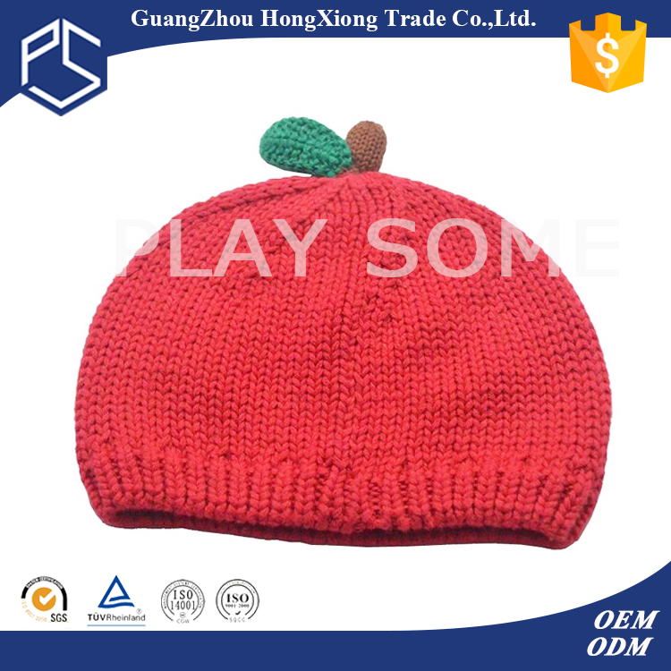 Unique design red knitted newborn hats patterns free