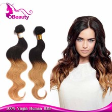 New updated aesthetic appearance two tone brazilian body wave human hair sew in weave