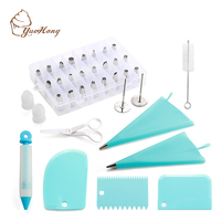 42-Piece Cake Decorating Kit Supplies with Icing Tips, Pastry Bags for reposteria Cake Decoration Baking Tool