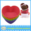Wholesale food greade silicone cake mold decorating supplies heart shape silicone cakecup liner