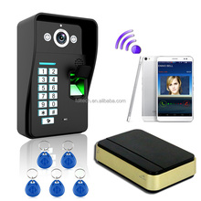 "Luxury 3G gsm 7""touch monitor Smart WiFi video doorbell for smartphones & tablets wireless video door phone,"