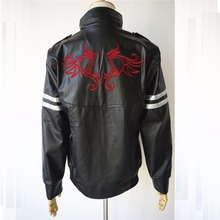 High Quality Prototype Alex Mercer Cosplay Costume Embroidered Jacket PU Leather Coat Halloween Costumes for Women/Men Customize