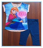 free sample lovely cheap wholesale elsa pajamas sets for kids china supplier