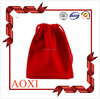Hot sale products profession custom red drawstring velvet bag