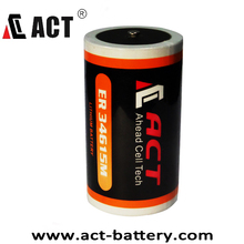 SIZE D 3.6v / ER34615M ACT Primary Lithium Battery 14500 mAh Nominal Capacity