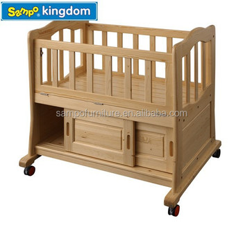 Hot-selling nursery furniture convertible baby crib infant kids toddler bed