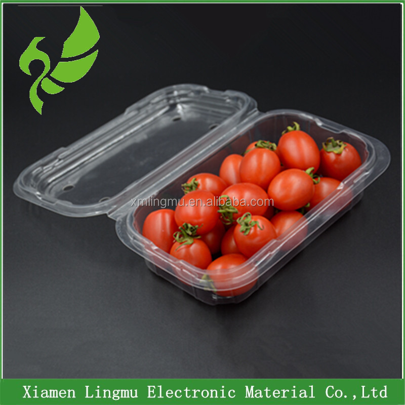 New design food grade fruit and vegetable plastic fresh tray wholesale