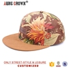 custom snap back hat wholesale,floral customised hats,floral hat fabric