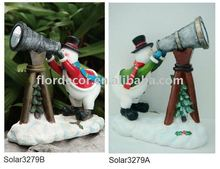 Solar snowman resin light(Solar3279)