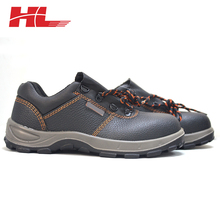 2017 men's Buffalo Leather steel toe work Industrial construction safety shoes