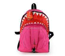 Shark costume canvas sports backpack school bag