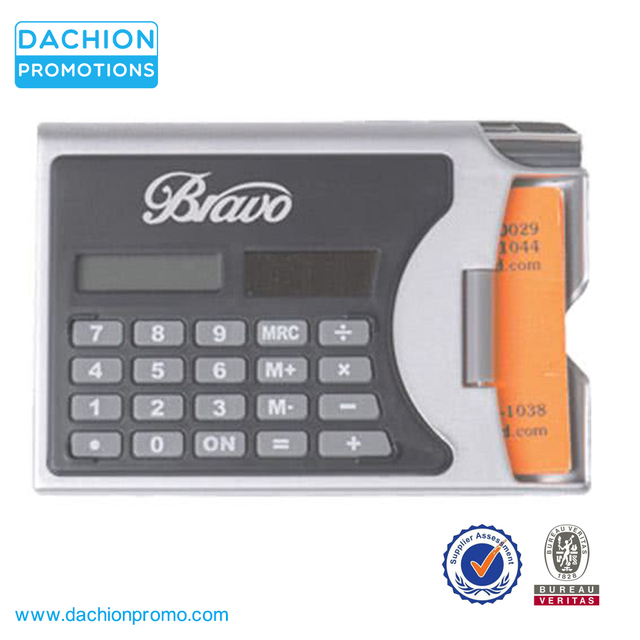 Promotional 2 In 1 Solar Calculator Business Card Holder with Pen