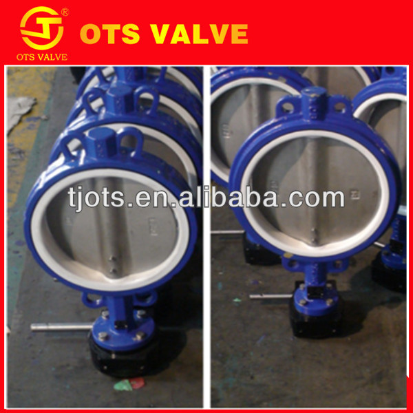 BV-LY-0037the good quality good anti-corrosive PTFE seat ckd pneumatic butterfly valve