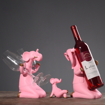 YIBEI home goods decorative elephant resin wine bottle holder