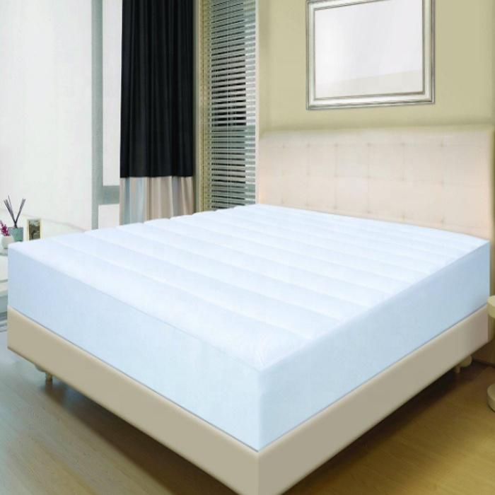 Premium hypoallergenic waterproof overlocking plain solid color mattress cover with elastic belt - Jozy Mattress | Jozy.net