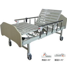 Two functions hospital furniture used adjustable medical Electric nursing home care bed with Aluminum fence