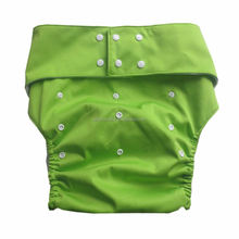 Wholesale Waterproof TPU Cloth Diaper for adult with 4 layers microfiber insert suede cloth inner adjustable incontinence pants