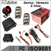 China manual button pushing control sheriff car alarm system with valet mode