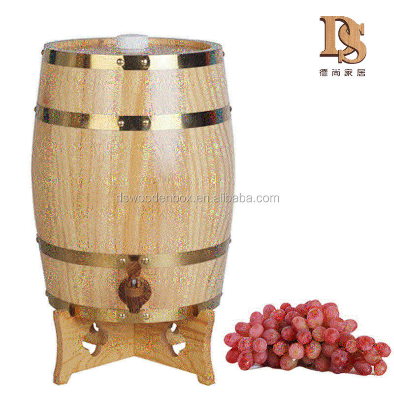 Europe Style Home Decor 10L Standing Vintage <strong>Oak</strong> Wooden Wine <strong>Barrel</strong>