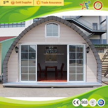 China dome house/cheap prefab house/modular arched cabin for sale