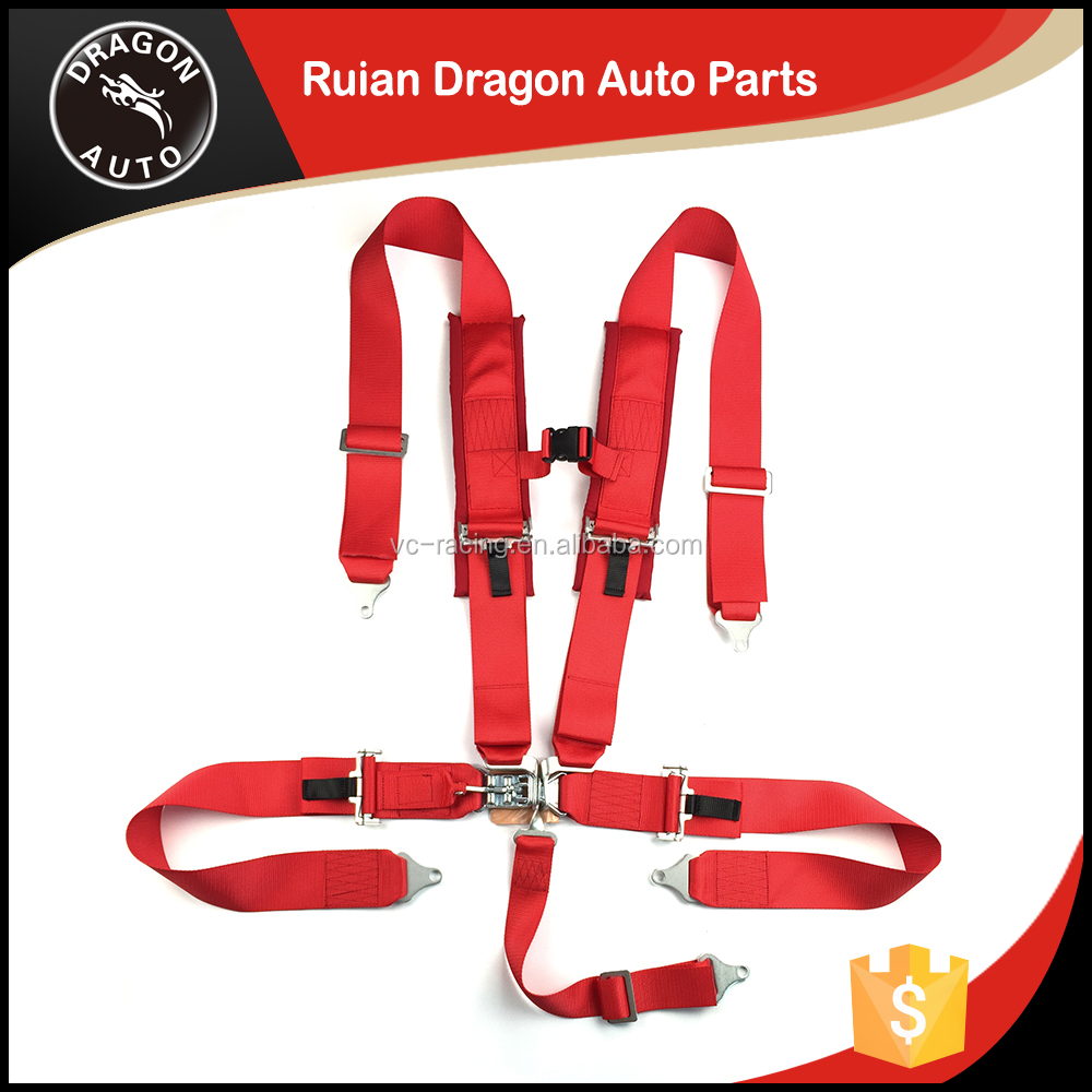 High quality latch link bride red 5-point harness racing seatbelt sefety belt