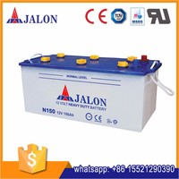 dry charged 12v 150ah N150 car battery factory