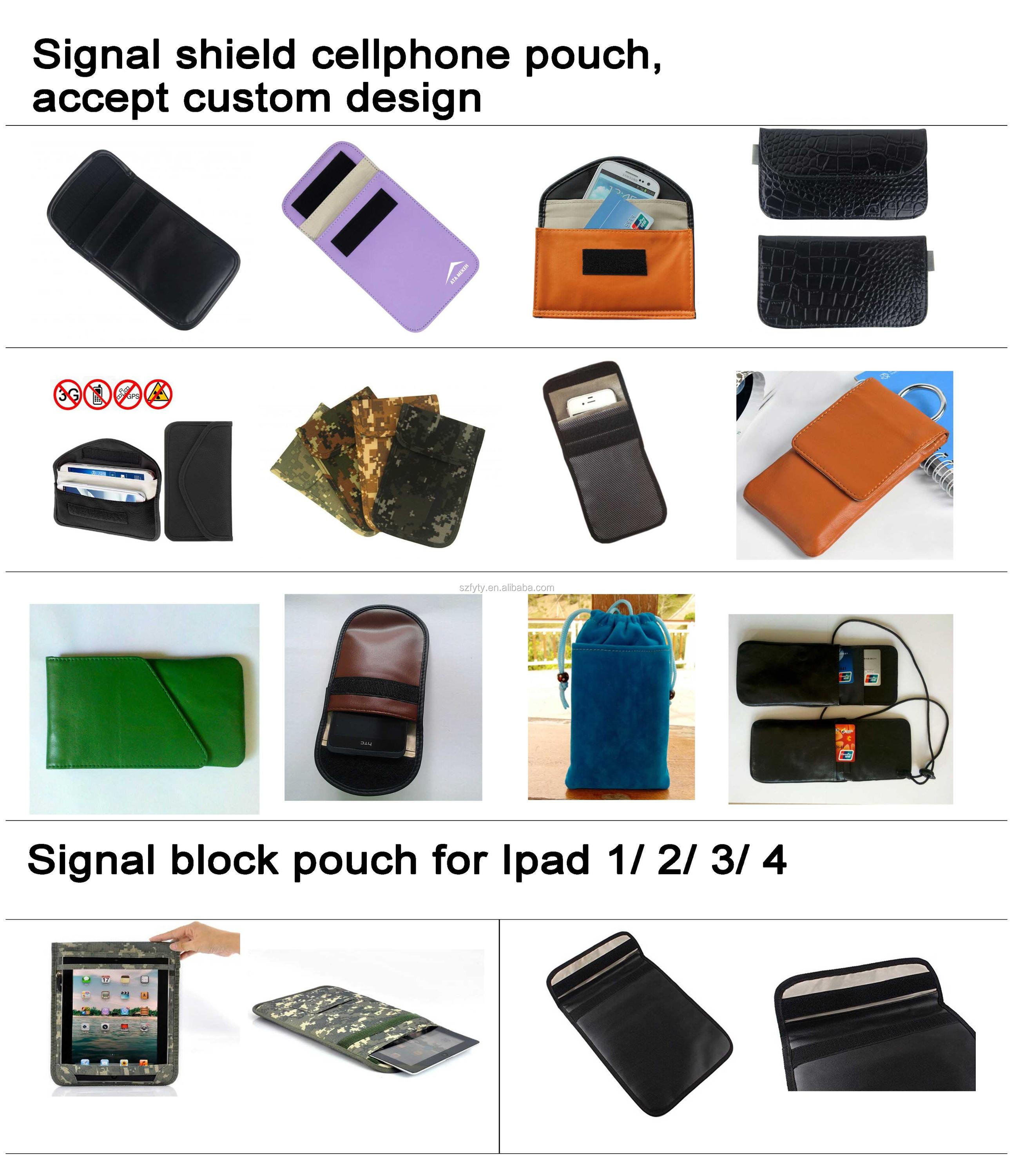 Cell Phone Anti-Radiation Protect Pouch Cyber Hacking