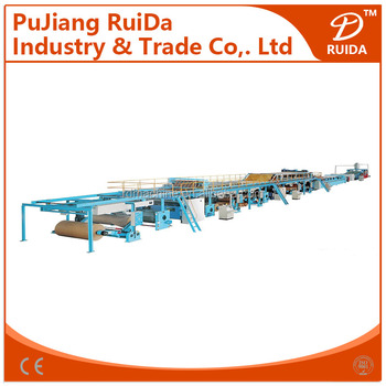 [RT-100-2000]Automatic 3 plys corrugated cardboard production line,corrugated cardboard production