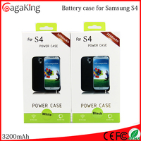 3200mah backup battery charger power pack case for Samsung Galaxy S4 external battery case