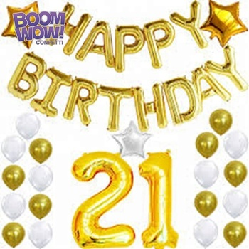 Boomwow Foil Balloons Glue Point Double Sided Multi Use 21st Birthday Party Decorations