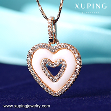 A111 Fashion Jewelry Rose Gold heart Chain, latest design chain pictures, ceramic jewelry gold Necklace for women, Necklace