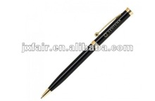 black metal pen with logo