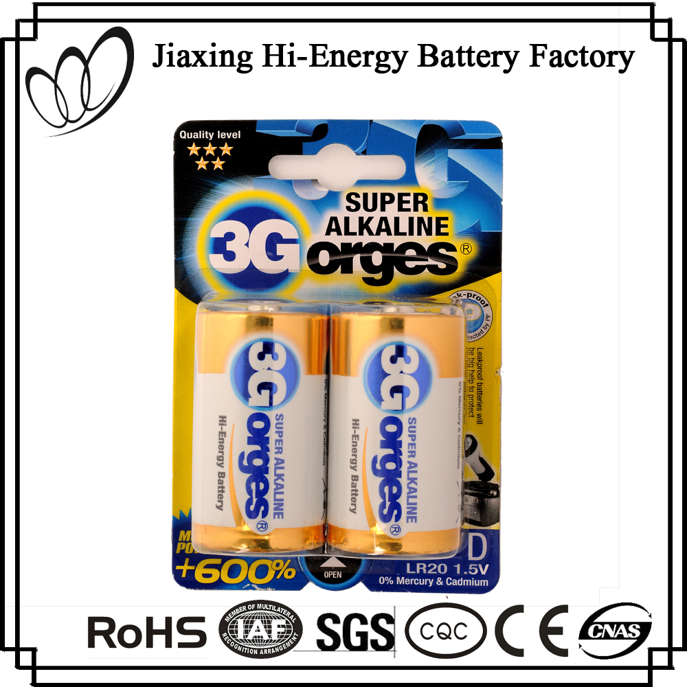 High Quality 1.5V LR20 AM1 Alkaline Battery Pack