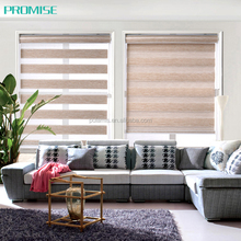 Horizontial blinds zebra design fabric window shades roller