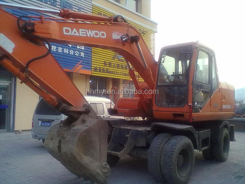used Daewoo excavator DH130W hot sale good quality